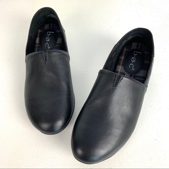 Boc Suree Black Leather Slip On Size 7